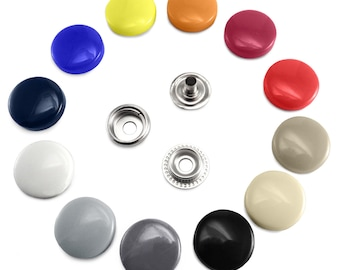 17 mm Plastic Poppers Snap Fasteners Press Studs Sewing Clothing Buttons B3A