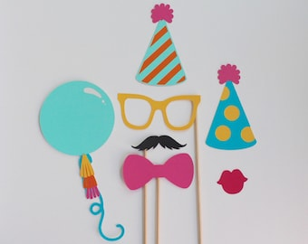 First Birthday Party Celebration Photo Booth Props