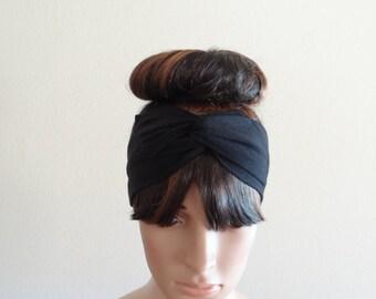 Black Head Wrap. Black Headband