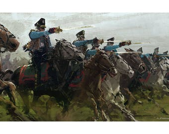 Cavalry Charge Signed Art Print