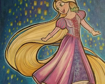 Original Tangled Rapunzel Art