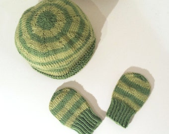 Cotton Baby Hat & mittens