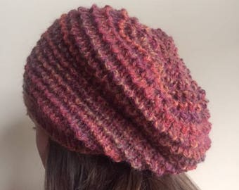 Wool and alpaca slouchy in autumn colours