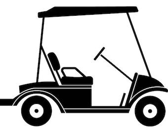 golf cart clip art etsy rh etsy com golf cart clip art cartoons golf cart clip art free