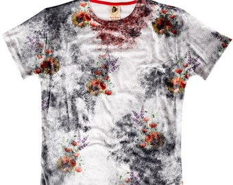Splat Flower Funky Cool Funny Fashion Design All Over Print T-shirt