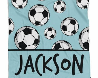 Personalized soccer sports blanket
