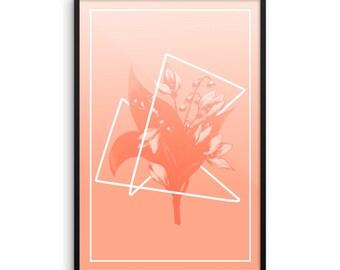 Modern Pink Flower poster INSTANT DIGITAL PRINT 20x30