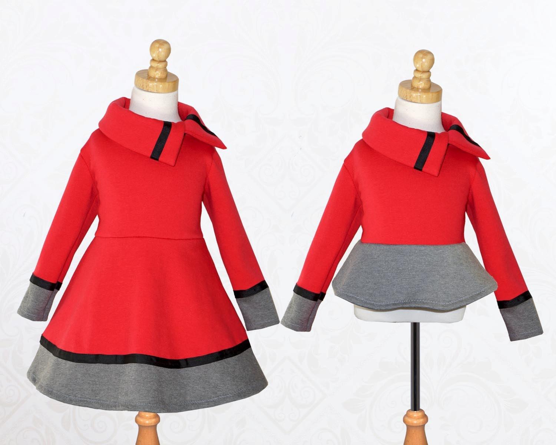 Girls Dress Pattern PDF, Dress Sewing Pattern, Top Sewing Pattern ...