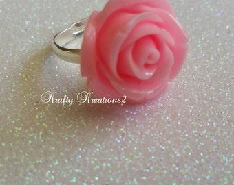 Baby Pink Adjustable Rose Ring