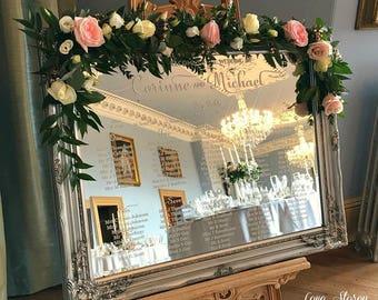 Mirror Wedding Table Plan Diy Modern Luxury Seating Plan