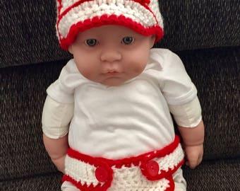 Infant Baseball Diaper Cover Set