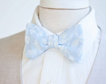 Bow Ties, Bow Tie, Bowties, Mens Bow Ties, Freestyle Bow Ties, Self-Tie Bow Ties, Ties, Rifle Paper Co -  Queen Anne In Pale Blue