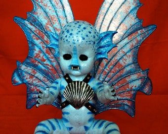 Rogue Wave is a OOAK  evil fairy baby art doll