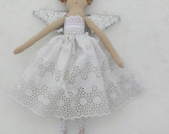 A beautiful snow fairy or angel