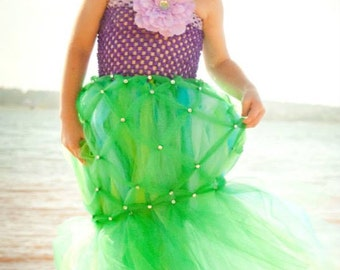 Girls Mermaid Tutu Dress Halloween Costume (Newborn - 5T)