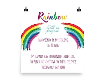 Rainbow Baby Hospital Birthing Delivery Room Door Poster
