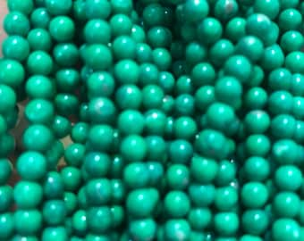 4MM Green Howlite Beads 16 in strand