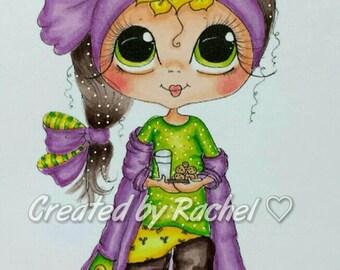 INSTANT DOWNLOAD Digital Digi Stamps Big Eye Big Head Dolls NEW Besties Christmas Cookies  My Besties By Sherri Baldy