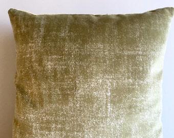 Green Velvet Pillow Cover 18x18 Pillow Velvet Green Pillow Designer Pillow Velvet Pillows Velvet Cushion Covers Green Sofa Pillow Cover
