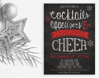 Christmas Party Invitation, Christmas Invites, Holiday Party Invitations, Holiday Party Invites, Christmas Party, Christmas Cheer [86]