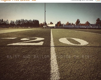 FLASH SALE til MIDNIGHT 20 Yard Line Football Field Photo Print, Boys Room, Wall Decor, Wall Art,  Man Cave,Boys Nursery Ideas, Gift Ideas,
