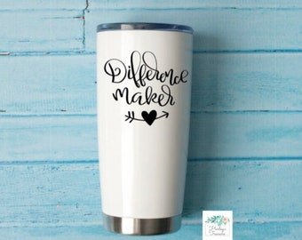 Difference Maker Vinyl Decal, Teacher Gift, Mom Gift, Birthday gift for Mom, Mother's Day gift, Mom decal, Momlife decal, Car Decal, Gift