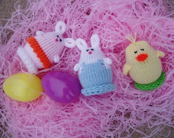 Easter Bunny and Chick Egglets (One boy bunny, one girl bunny and one chick.)  Want a different grouping - just contact us.