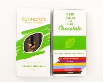 Kennard's Artisan Chocolate, Roasted Almond Dark Chocolate Bar