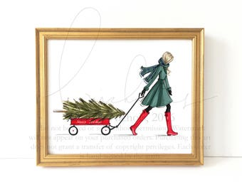 The Find (Holiday Fashion Illustration Print)