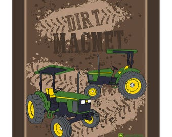 John Deere Fabric Dirt Magnet From Springs Creative By the Panel