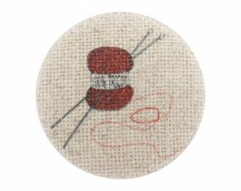Side button wool