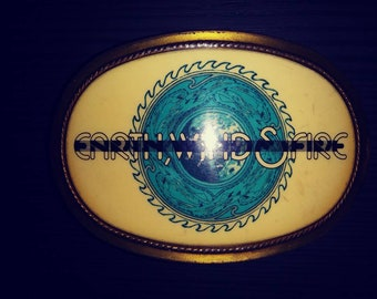 1977 Earth Wind and Fire Belt Buckle Pacifica Rare Vintage