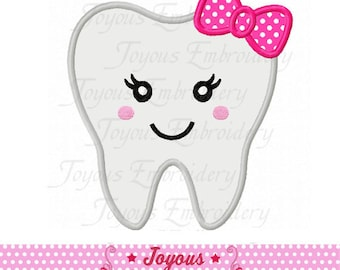 Instant Download Tooth For Girls Applique Machine Embroidery Design NO:2124
