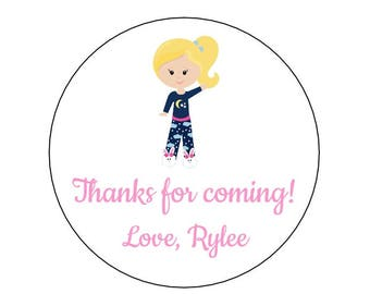 20 Pajama Stickers, Girl PJ Party, Pajama Theme, Sleepover Labels, Birthday Stickers, Pajama Party, Pajama Birthday, PJ's and Pancakes