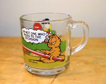 Garfield & Odie Retro Glass Mug