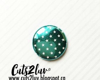 "Badge 1 ""turquoise metal stars"