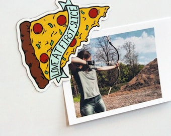 Love At First Slice Pizza Magnet