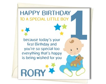 First birthday card etsy personalised boys 1st birthday card first birthday card for brother godson son grandson nephew babies bookmarktalkfo Images
