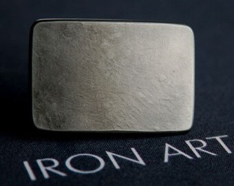 """TINY Belt Buckle - Silver Boys - Girls Hypoallergenic Stainless Steel Buckle measures 2-1/4"""" x 1-1/2"""" fits 1-1/4"""" Leather Belts - Custom Cut"""