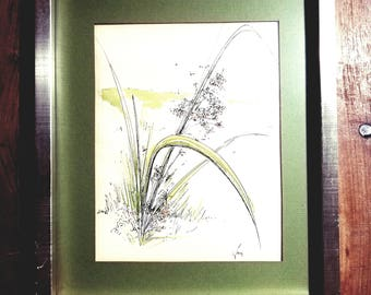 Marg Bowen signed Watercolor Painting, Marg Bowen Art, Marg Bowen Painting, Mid Century Art, Original Art, Margaret Bowen
