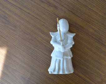 Vintage Ceramic Samurai Planter Benihana Kendo Samurai Mug White Kendo Samurai Statue