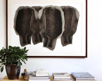 Huge Wall Art, Modern Abstract Wall Decor Art Print, Giclee Poster Size, Extra Large Print,