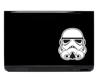 Star Wars Stormtrooper Helmet Laptop Decal | starwars laptop art starwars decals macbook decal car decal stickers for laptops starwars decal