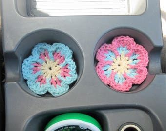 Auto Coasters for Car Cup Holder, Car Coasters, Car Coaster Floral, Cute Car Accessories, Auto Cup Holder, Auto Coaster, Car Cupholder