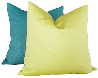 Green Pillow, 12x18, Lumbar Pillows, Green Cushion Cover, Chartreuse Pillow, Accent Pillow, Solid Green, Zipper, Spring Pillow, SALE