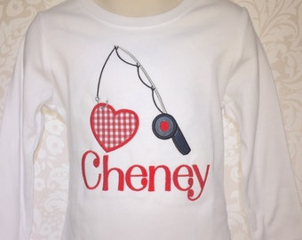 Valentine Day Shirt, Boy Valentines Day, Fishing Valentines Day Shirt, Gingham Valentines Day, Boys Valentine Shirt, fishing shirt