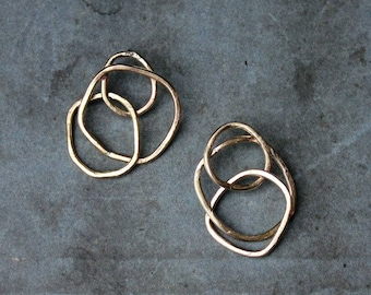 NORTH earrings - eco silver or brass