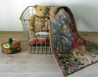 Antique Patchwork Doll Quilt.