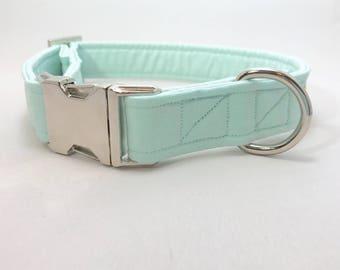 Turquoise Dog Collar · Mint Dog Collar · Solid Color Collar · Girl Dog Collar · Boy Dog Collar · Chic Dog Collar · Preppy Dog Collar ·