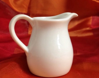 Small white pitcher or creamer